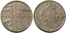 5 пенсов 2009 Великобритания