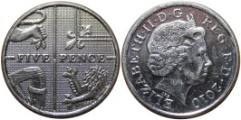 5 пенсов 2010 Великобритания