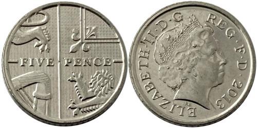5 пенсов 2013 Великобритания