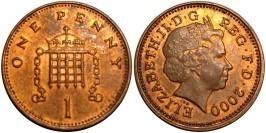 1 пенни 2000 Великобритания