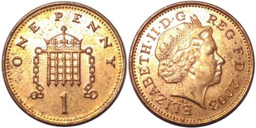 1 пенни 2003 Великобритания