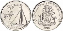 25 центов 2015 Багамские Острова UNC