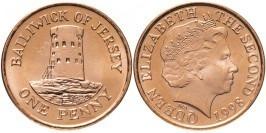 1 пенни 1998 остров Джерси UNC