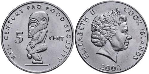 5 центов 2000 Острова Кука — F.A.O. — ФАО — Свободная ассоциация (1972-2016) UNC