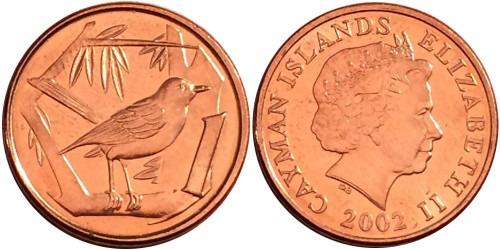 1 цент 2002 Каймановы острова UNC