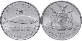 5 центов 2000 Намибия — ФАО UNC
