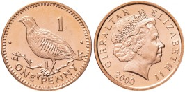 1 пенни 2000 Гибралтар UNC