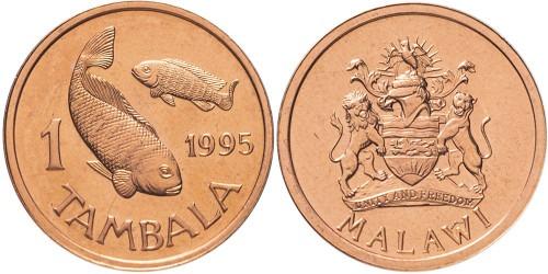 1 тамбала 1995 Малави — Бронза — не магнетик UNC