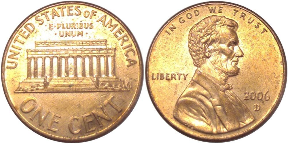 1 цент 2006 D США