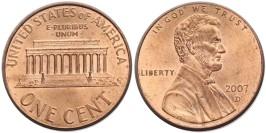 1 цент 2007 D США