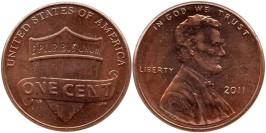 1 цент 2011 США