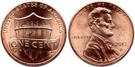 1 цент 2012 D США UNC