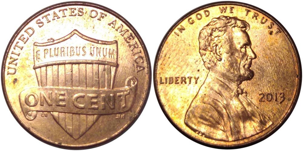 1 цент 2013 США