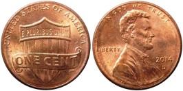 1 цент 2014 D США