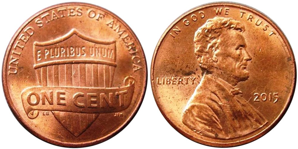 1 цент 2015  США