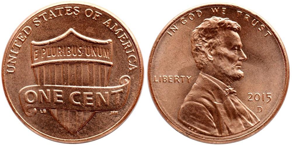 1 цент 2015 D США