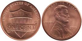 1 цент 2018 США