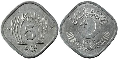 5 пайс 1987 Пакистан