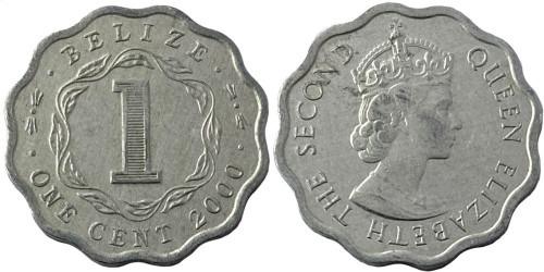 1 цент 2000 Белиз