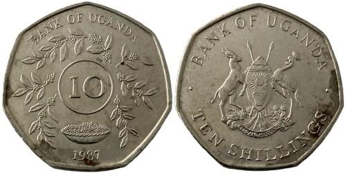 10 шиллингов 1987 Уганда уценка