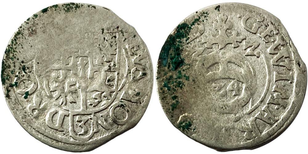 Драйпелькер (1/24 талера) 1622 Пруссия — Георг-Вильгельм — серебро