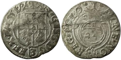Полторак (1,5 гроша) 1623 Польша — Сигизмунд III — серебро №1