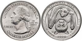 25 центов 2020 P США — Национальный парк Американского Самоа — American Samoa UNC
