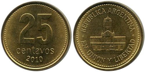 25 сентаво 2010 Аргентина UNC