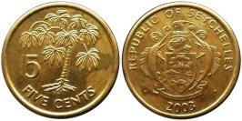 5 центов 2003 Сейшельские острова UNC