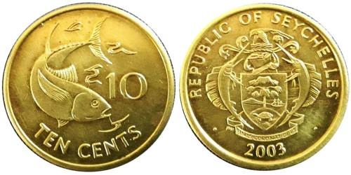 10 центов 2003 Сейшельские острова UNC