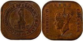 1 цент 1943 — Малайя №4