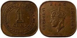 1 цент 1945 — Малайя №4