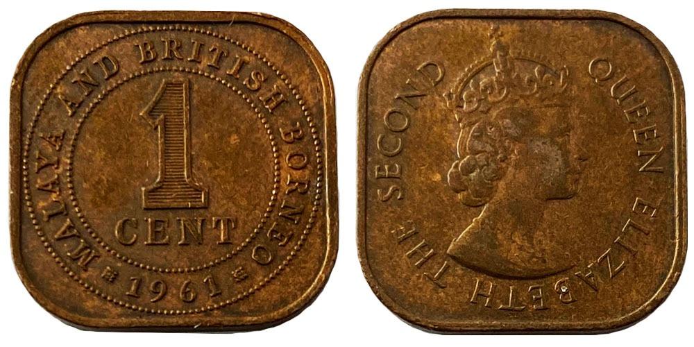 1 цент 1961 — Малайя и Британское Борнео №1