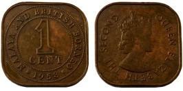 1 цент 1958 — Малайя и Британское Борнео №2