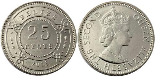 25 центов 2015 Белиз UNC