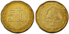 50 сентаво 2009 Мексика UNC
