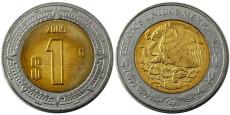 1 песо 2009 Мексика UNC