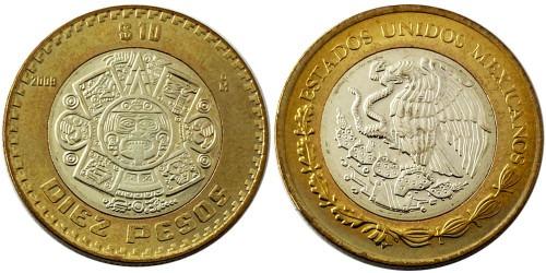 10 песо 2009 Мексика UNC
