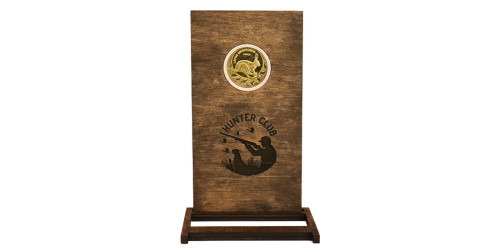 Памятная медаль — Клуб охотников — Заяц-серый (Lepus europaeus) в рамке