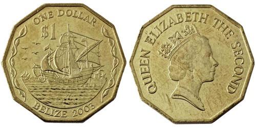 1 доллар 2003 Белиз UNC