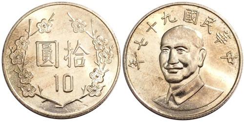 10 долларов 2008 Тайвань