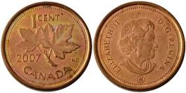 1 цент 2007 Канада — сталь — магнетик