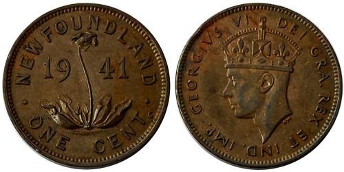 1 цент 1941 Ньюфаундленд