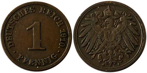 1 пфенниг 1910 «А» Германская империя