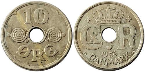 10 эре 1934 Дания