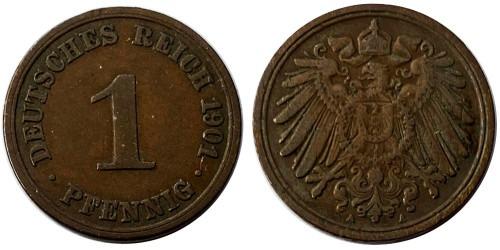 1 пфенниг 1901 «А» Германская империя