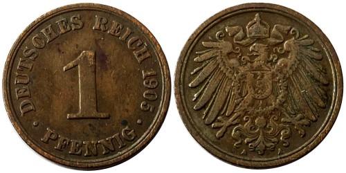 1 пфенниг 1905 «А» Германская империя