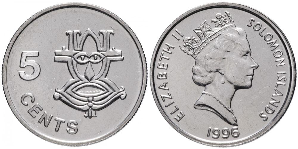5 центов 1996 Соломоновы острова UNC