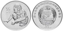 1/2 чона 2002 Северная Корея — Мир животных — Орангутан UNC
