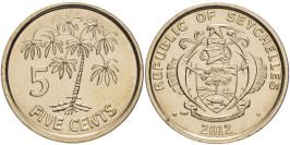 5 центов 2012 Сейшельские острова UNC